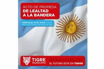 Promesa de Lealtad a la Bandera de los alumnos de Tigre