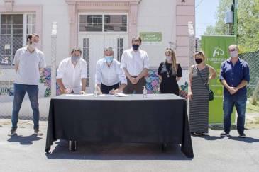 Zabaleta firmó un convenio junto a Cuattromo y Di Tullio para ampliar el Hogar de Abrigo Eva Duarte
