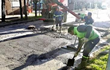 El Municipio continúa con la reparación y puesta en valor de calles en El Talar
