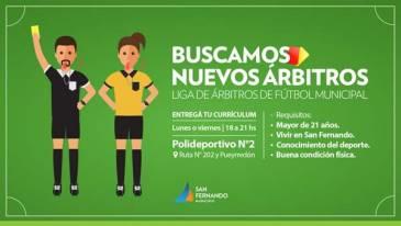 Liga de Árbitros de Fútbol Municipal con vecinos y vecinas