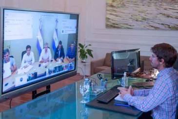 Juan Andreotti mantuvo una videoconferencia con el Presidente y los Intendentes del Conurbano