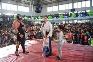 Zabaleta celebró junto a más de mil chicos el Día del Niño en Hurlingham