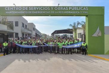 Inauguración del moderno Centro de Servicios y Obras Públicas