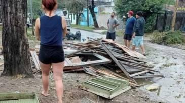 """""""Los destrozos del temporal de ayer en los barrios populares son la otra cara de la especulación inmobiliaria"""""""