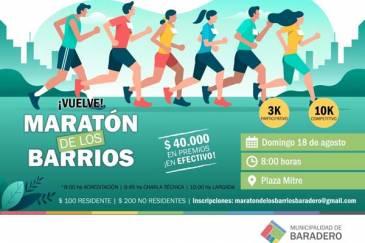 La inscripción de la Maratón de los Barrios sigue abierta