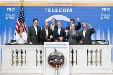 Telecom Argentina celebró el 25 aniversario de su cotización en la Bolsa de Nueva York