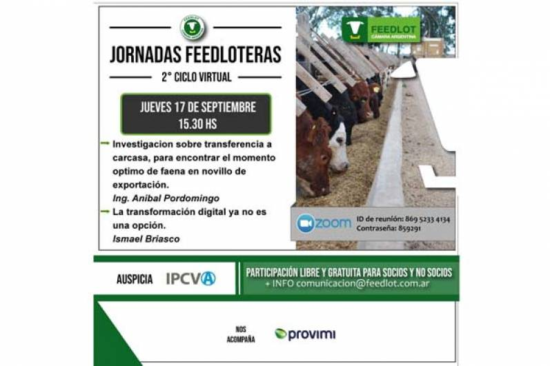 Jornadas Feedloteras: 2º ciclo virtual