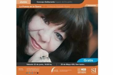 En San Isidro se disertará sobre la poesía en la ópera