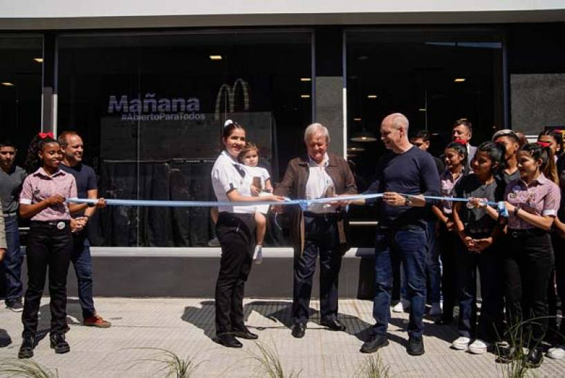 McDonald's inaugura su primer local en el Barrio 31